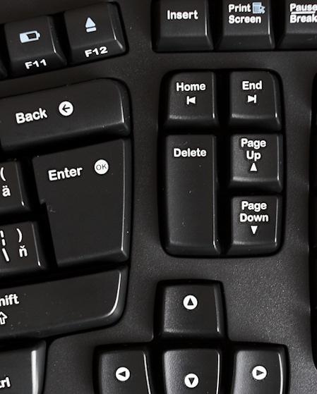 Rozloženie kláves okolo Delete