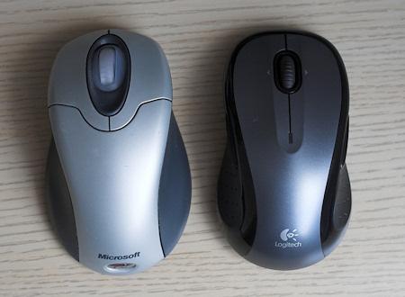 Logitech LX8 a Microsoft Wireless Mouse 2.0A